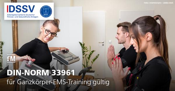 Die DIN-NORM 33961, Teil 5, ist für Ganzkörper-EMS-Training gültig.