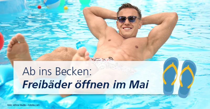 Beginn der Freibadsaison hat in Deutschland kein offizielles Datum,Badbetreiber richten die Öffnung nach dem Wetter.