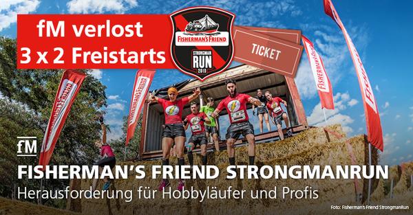 Gewinnspiel für den Fisherman's Friend StrongmanRun 2019 in Köln – bei fitness MANAGEMENT Tickets für Freistarts gewinnen.