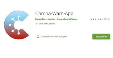 Corona-Warn-App für Android-Smartphones im Play Store downloaden