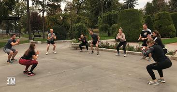 Workout am Morgen im Rahmen des DSSV-Events 2019 in Belgrad