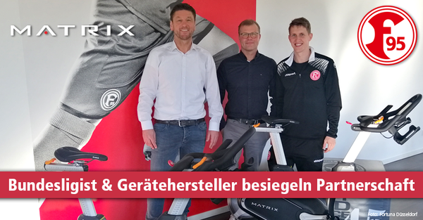 Johnson Health Tech. stattet Fortuna Düsseldorfs Nachwuchsleistungszentrum mit Matrix-Geräten aus