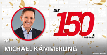 Michael Kämmerling, Geschäftsführer Trainingszentrum Kämmerling GmbH gratuliert zur 150. Ausgabe der fitness MANAGEMENT international (fMi)