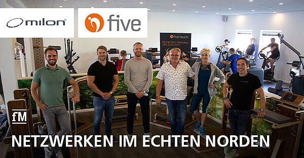 Gastgeber und Organisatoren des Netwerktreffens von milon und five in Osterrönfeld.