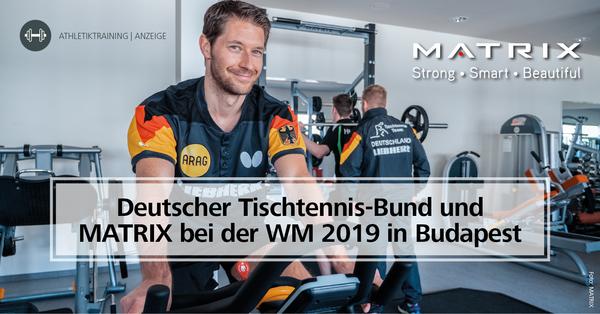 Der Deutsche Tischtennis-Bund setzt mit MATRIX einen Kooperationspartner mit Nationalmannschaftserfahrung