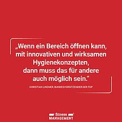Zitat des Tages: 'Wenn ein Bereich öffnen kann, mit innovativen und wirksamen Hygienekonzepten, dann muss das für andere auch möglich sein.' – Christian Lindner, Chef der Bundestagsfraktion der FDP