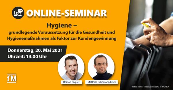 kostenloses DSSV Online-Seminar zum Thema Hygiene