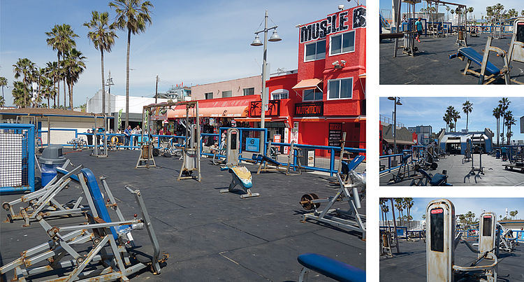 Muscle Beach in Kalifornien
