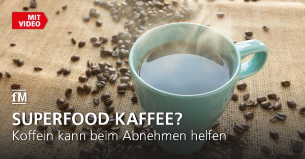 Kaffee trinken kann dank Koffein beim Abnehmen helfen.