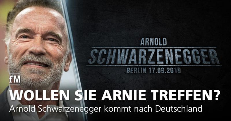 Arnold 'Arnie' Schwarzenegger aka Terminator kommt nach Deutschland. Treffen Sie den Schauspieler in Berlin persönlich auf der Champions Tour.