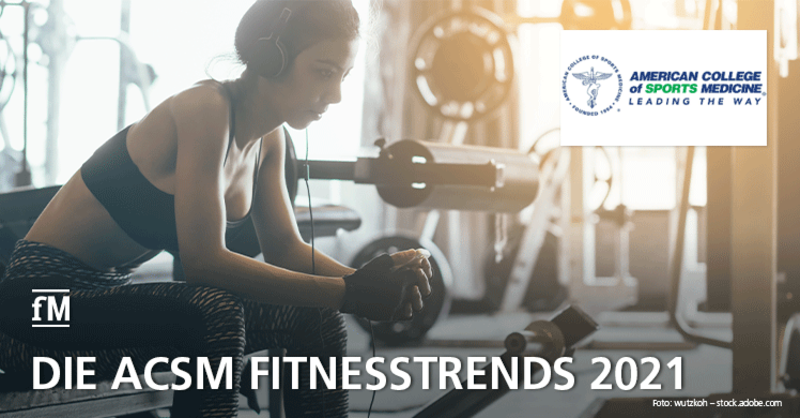 Fitnesstrends 2021: Die TopTen der internationalen Fitnesstrends.