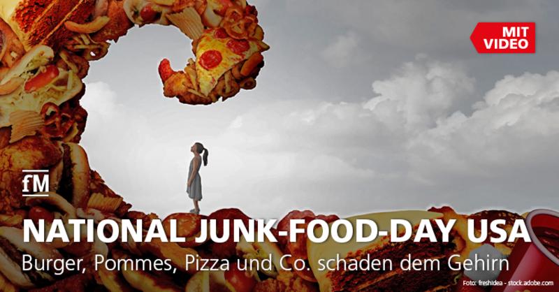 Demenzrisiko durch Junk-Food: Burger, Pommes, Pizza und Co. schaden dem Gehirn.