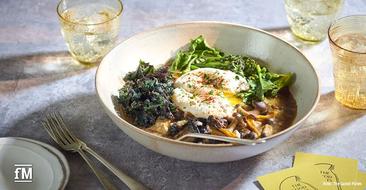 Gesundes Essen auf den Tellern im 'The Good Plates' London