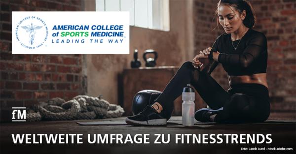 Weltweite ACSM-Umfrage zu Fitnesstrends 2021
