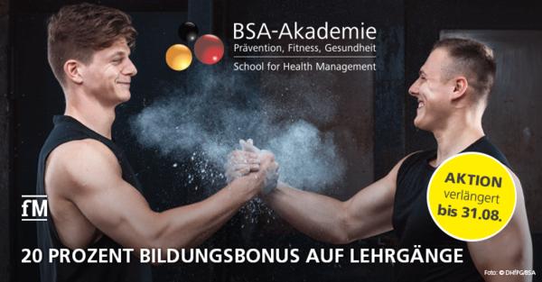 20 Prozent Bildungsbonus auf Lehrgänge der BSA-Akademie