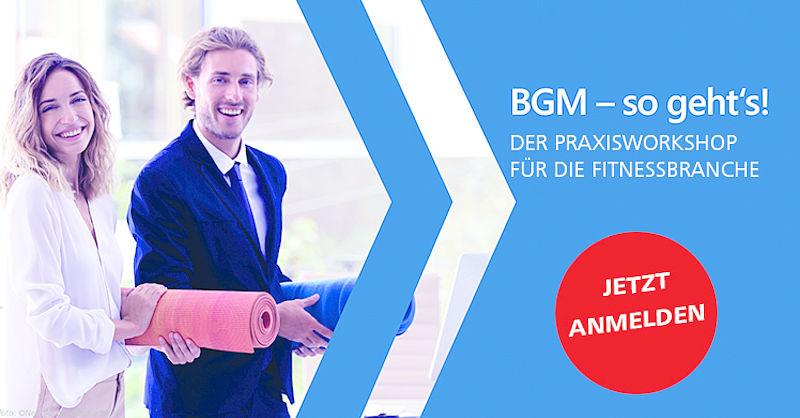 BGM: Der Praxisworkshop des DSSV für die Fitnessbranche.