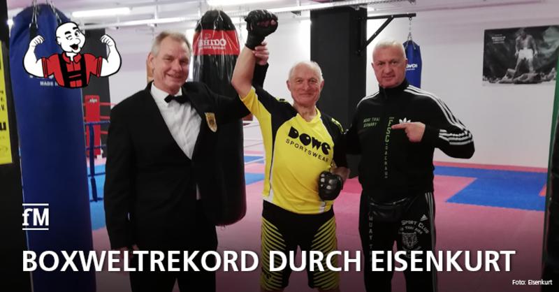 Neuer Boxweltrekord für Eisenkurt am Boxsack