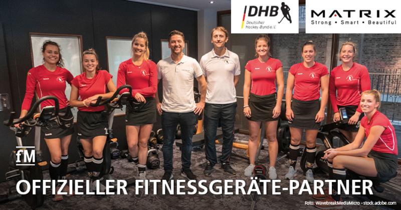 Kooperation perfekt: DHB Hockey Nationalteams trainieren auf Matrix Fitnessgeräten