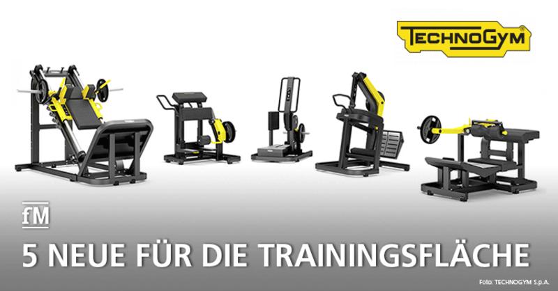 Technogym stellt 5 neue Geräte für die Trainingsfläche vor