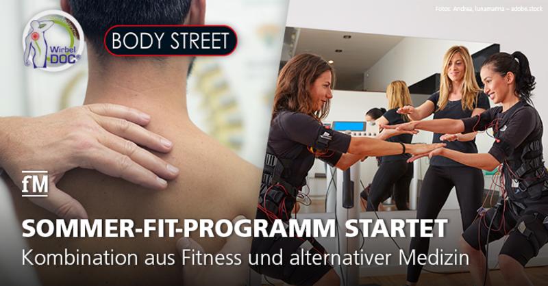 EMS-Training trifft Chiropraktik: Kooperationspartner Naturheilzentrum WirbelDOC und Kölner Bodystreet-Studios bieten eine Kombination aus Fitness und Alternativmedizin.