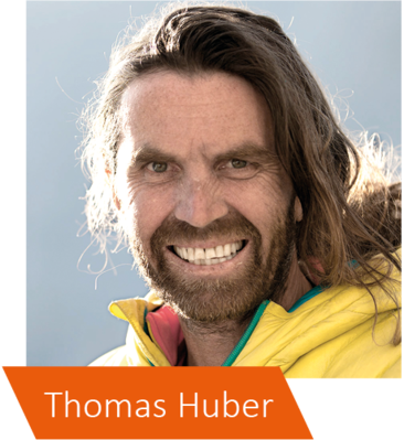 Thomas Huber ist Familienvater und leidenschaftlicher Bergsteiger.