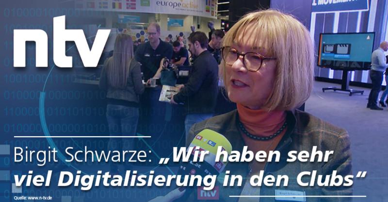 Birgit Schwarze: 'Wir haben sehr viel Digitalisierung in den Clubs.'