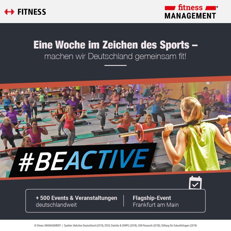 #BeActive unter diesem Motto setzt die EU-Komission in der Europäischen Woche des Sports ein Zeichen für mehr Bewegung.