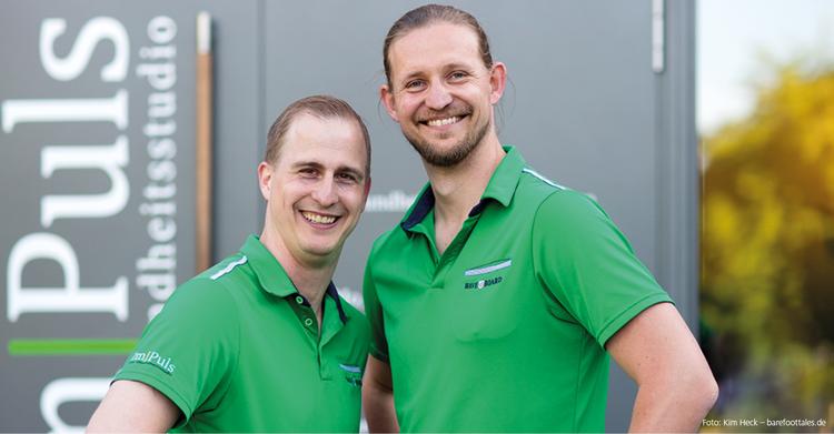 Die beiden Geschäftsführer des Im Puls in Eggenstein-Leopoldshafen: Andreas Cleve (l.) und Christian Braun