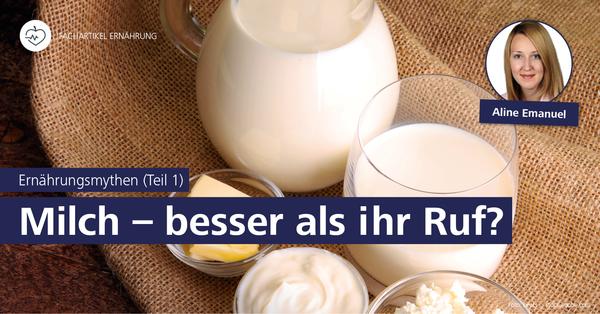 Warum Milchkonsum gesund ist