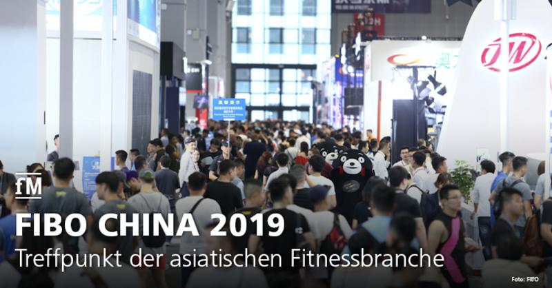 Asiatische Fitness- und Gesundheitsbranche trifft sich auf der FIBO China im August 2019 im National Exhibitions and Conference Center in Shanghai.