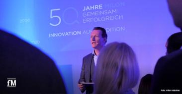'Lokal produzieren, global handeln', sagte Bernd Reichle, CEO milon industries GmbH, auf der Hausmesse 2020
