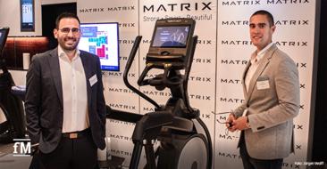 EGYM Kongress 2021: Stratos Antoniadis (EGYM) und Jürgen Aschauer (Matrix) – (v.l.n.r) nur für das Foto ohne Maske