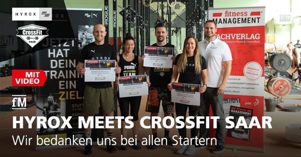 Nach dem Functional Training Event HYROX in Karlsruhe bedankt sich die fM bei den Sportlern mit einem Gutschein für den neu eingeführten Lehrgang zum Trainer/in für Freihantel und Kettlebelltraining.