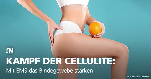 Risiko Bindegewebsschwäche: Cellulite (Orangenhaut) lässt sich mit Ganzkörpertraining mittels der Elektro-Myo-Stimulation (EMS) vorbeugen und bekämpfen.
