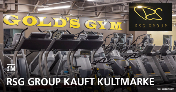 RSG Group kauft US-Kultmarke Gold's Gym