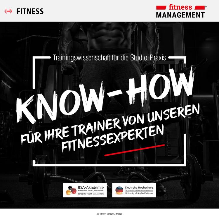 Know-how für Ihre Trainer von unseren Fitnessexperten.