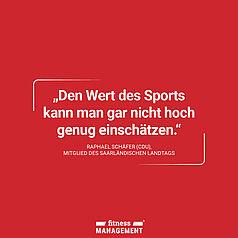 Zitat des Tages: 'Den Wert des Sports kann man gar nicht hoch genug einschätzen.' – Raphael Schäfer (CDU), Mitglied des saarländischen Landtags