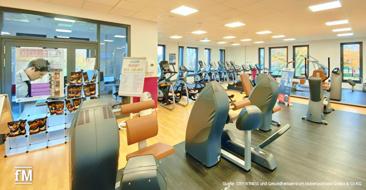 Das Evonik Gym im Sportpark Marl (Nordrhein-Westfalen) – Veranstaltungsort des milon-Netzwerktreffens 2019.