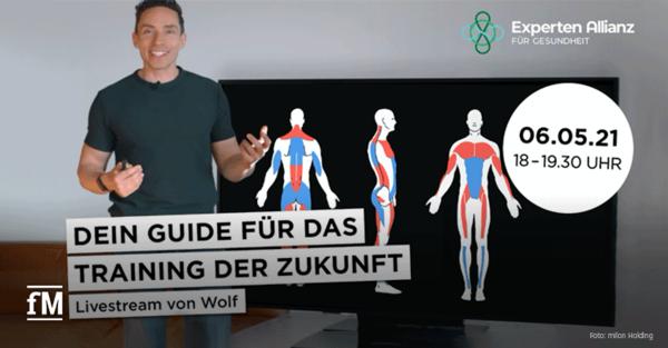 Livestream Trainingswissen mit Physiotherapeut und Trainingsexperte Wolf Harwath