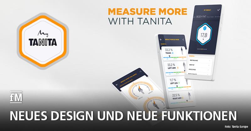 My Tanita-App mit neuem Design und neuen Funktionen