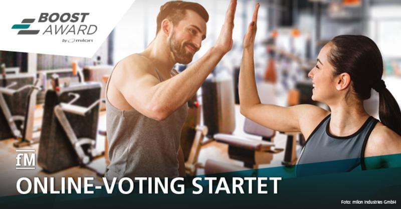 Ab 2. Oktober für die Favoriten abstimmen: Online-Voting für die Gründerförderung des milon BOOST Awards läuft.