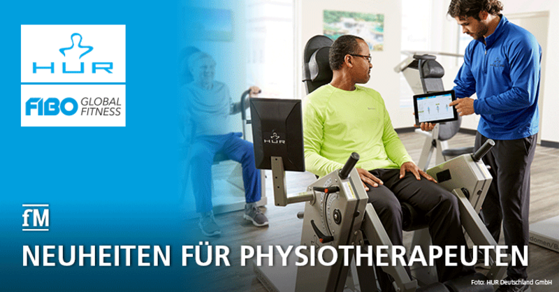HUR präsentiert auf der FIBO in Köln Neuheiten für Physiotherapeuten