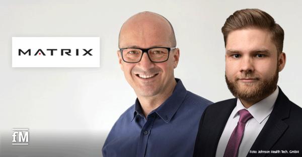 Neu bei MATRIX in der Schweiz: Oliver Mueller (links) übernimmt Geschäftsführung der Johnson Health Tech. GmbH in der Schweiz, Niklas Hinsch verstärkt das Vertriebsteam.