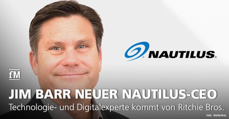 Technologie- und Digitalexperte Jim Barr wechselt von Ritchie Bros. zur Nautilus Inc.