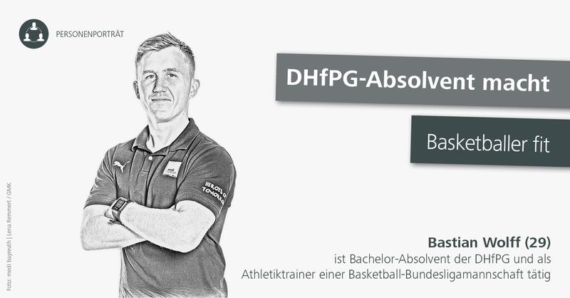 Portrait Bastian Wolff, Athletiktrainer des Basketball-Bundesligisten medi Bayreuth