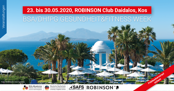 Willkommen auf Kos: TOP-EVENT-Woche der BSA-Akademie/DHfPG in Kooperation mit der SAFS und dem ROBINSON Club Daidalos.