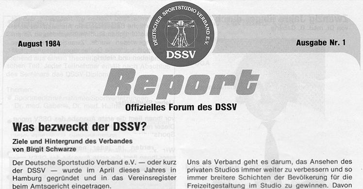 DSSV-Report: Offizielles Forum des Arbeitgeberverbands deutscher Fitness- und Gesundheits-Anlagen (DSSV).