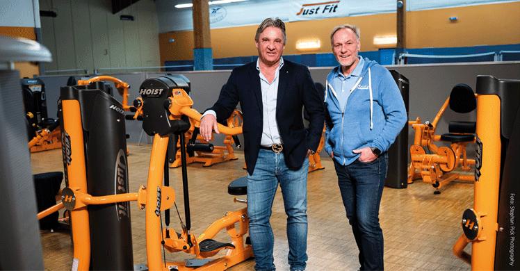 Frank Böhme (l.) und Wilfried 'Pelle' Peltz (r.) von HOIST-Fitness Germany