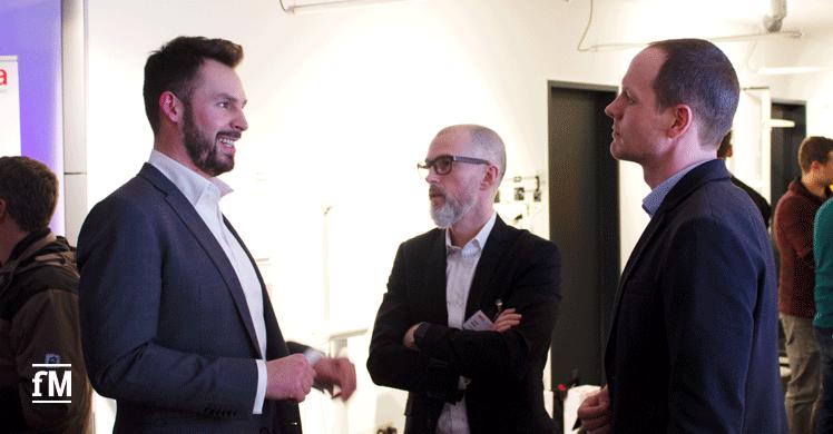 fitness MANAGEMENT im Gespräch mit Kieser-Entscheidungsträgern (v.l.): Janosch Marx, Patrik Meier und Stefan Rittmann