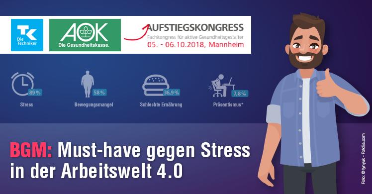 Fokus auf Stress und physische Gesundheit am Arbeitsplatz – BGM ist hier ein Must-have.